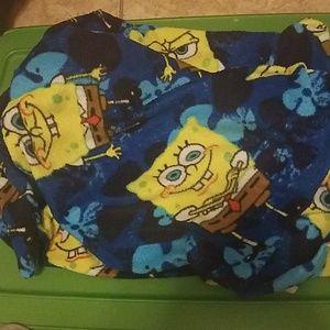 Spongebob throw blanket
